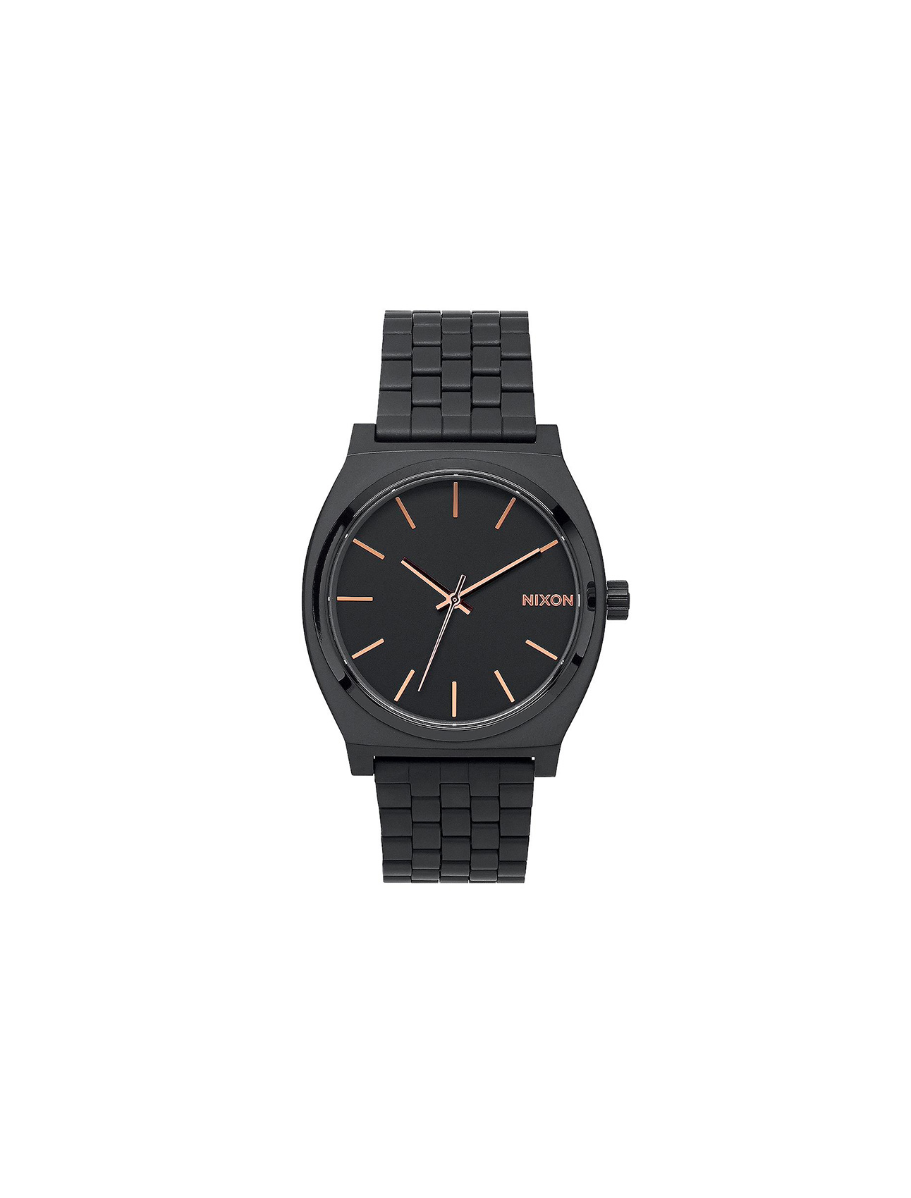 Nixon Time Teller All Black/ Rose Gold | Wooden Store