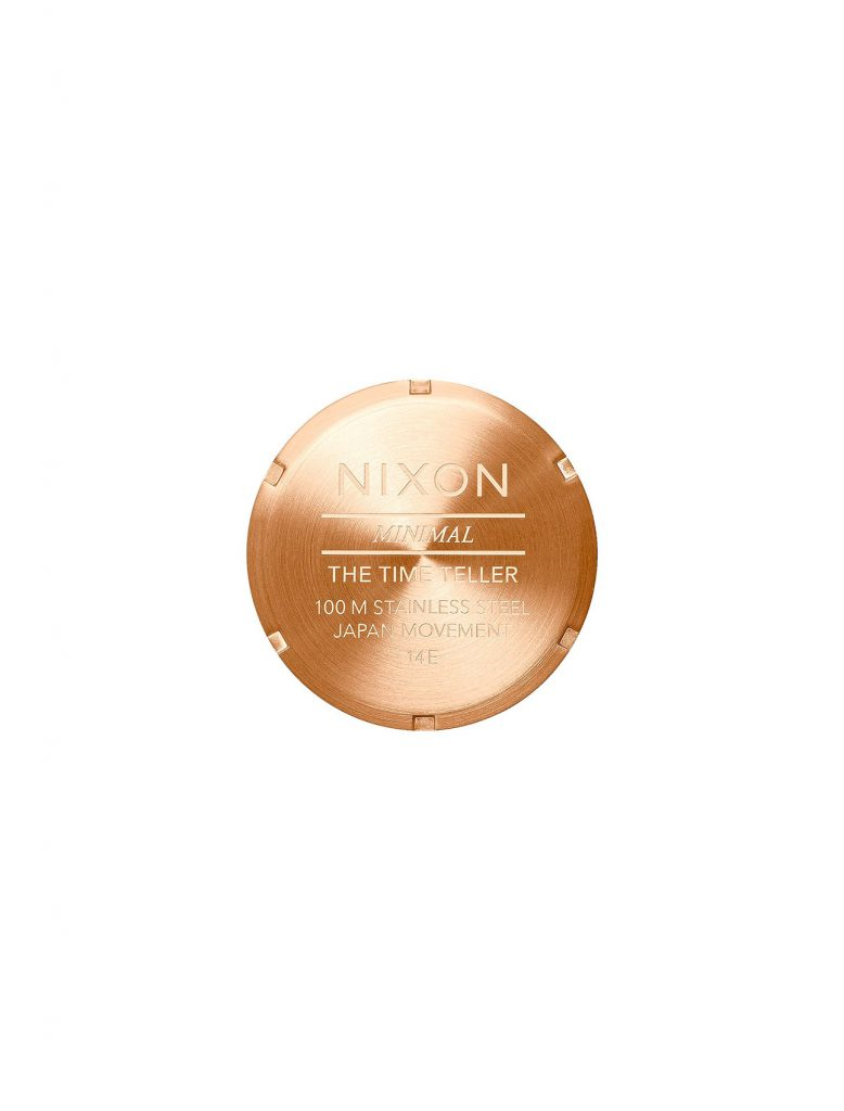 Nixon Time Teller All Rose Gold   Wooden Store