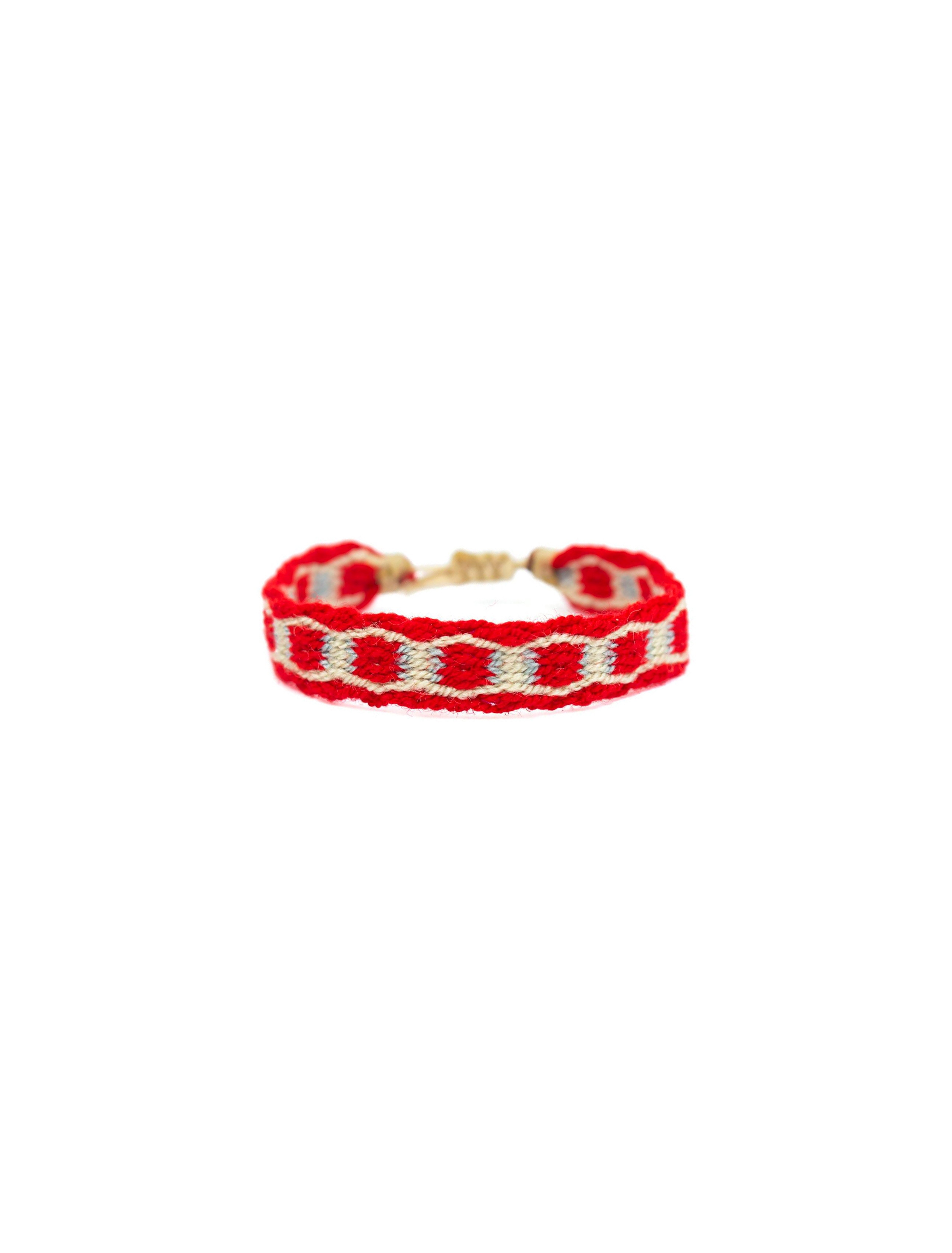 Guanabana Bracciale Bianco Rosso | Wooden Store