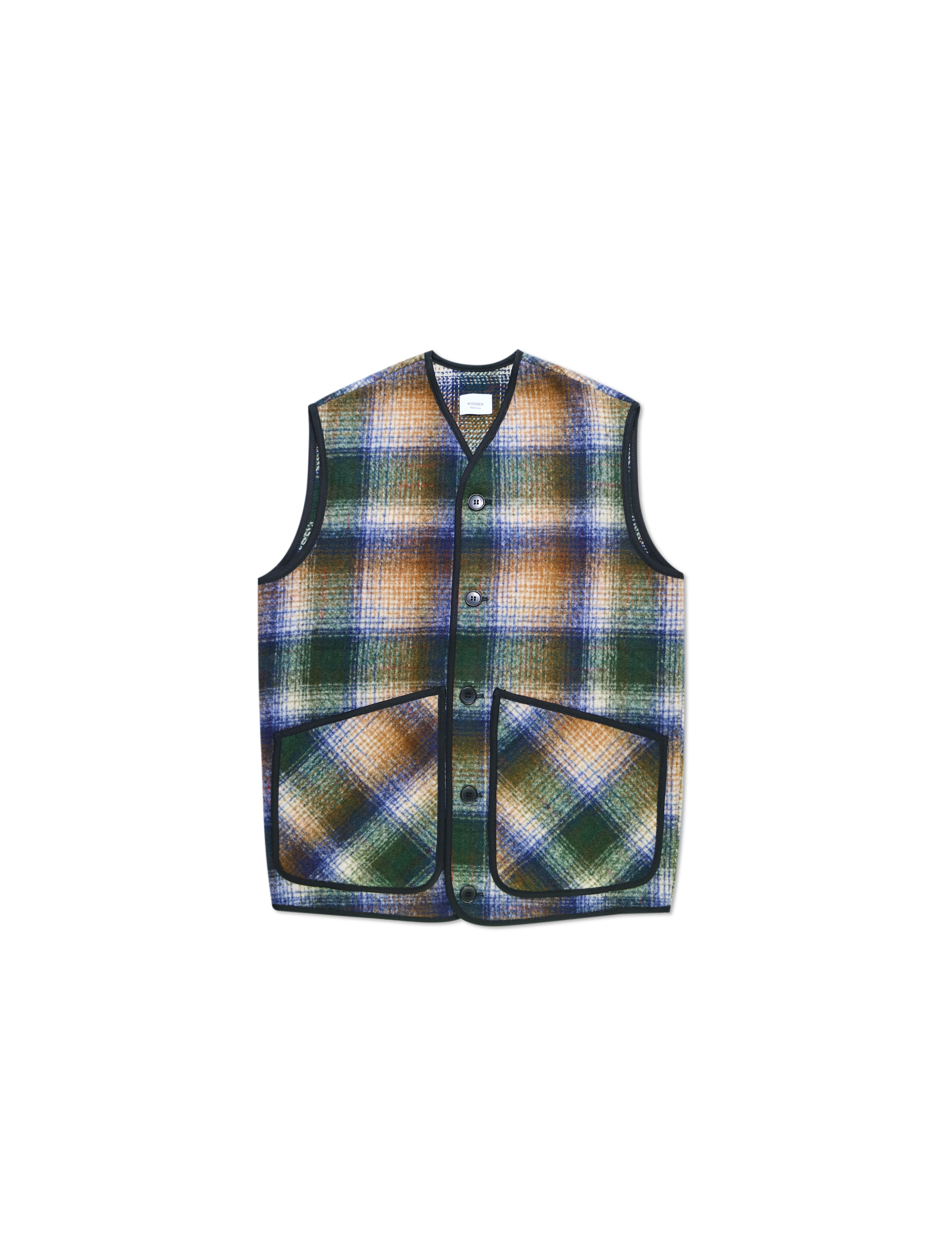 Gilet Brixton Green Check | Wooden Store