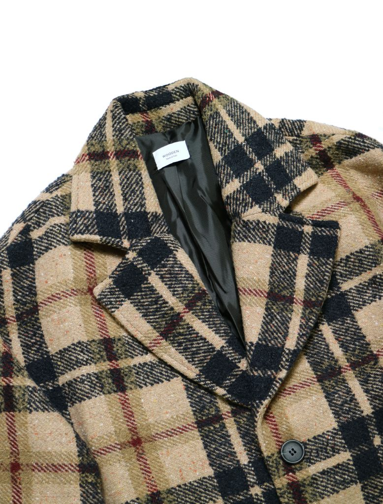 Cappotto Gregory Camel Check | Wooden Store