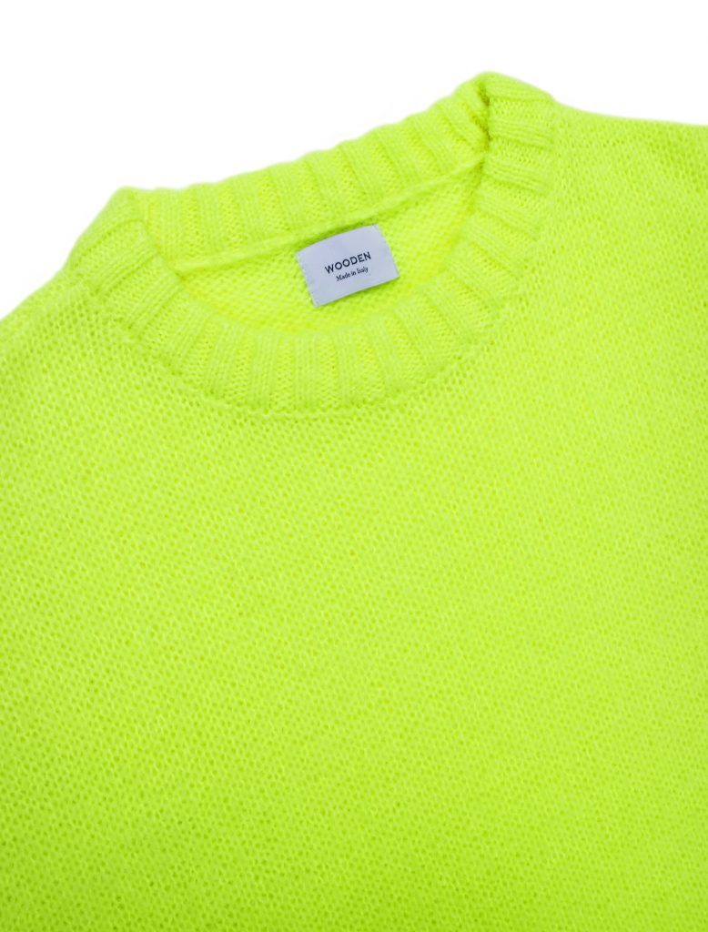Maglione Mohair Giallo Fluo | Wooden Store