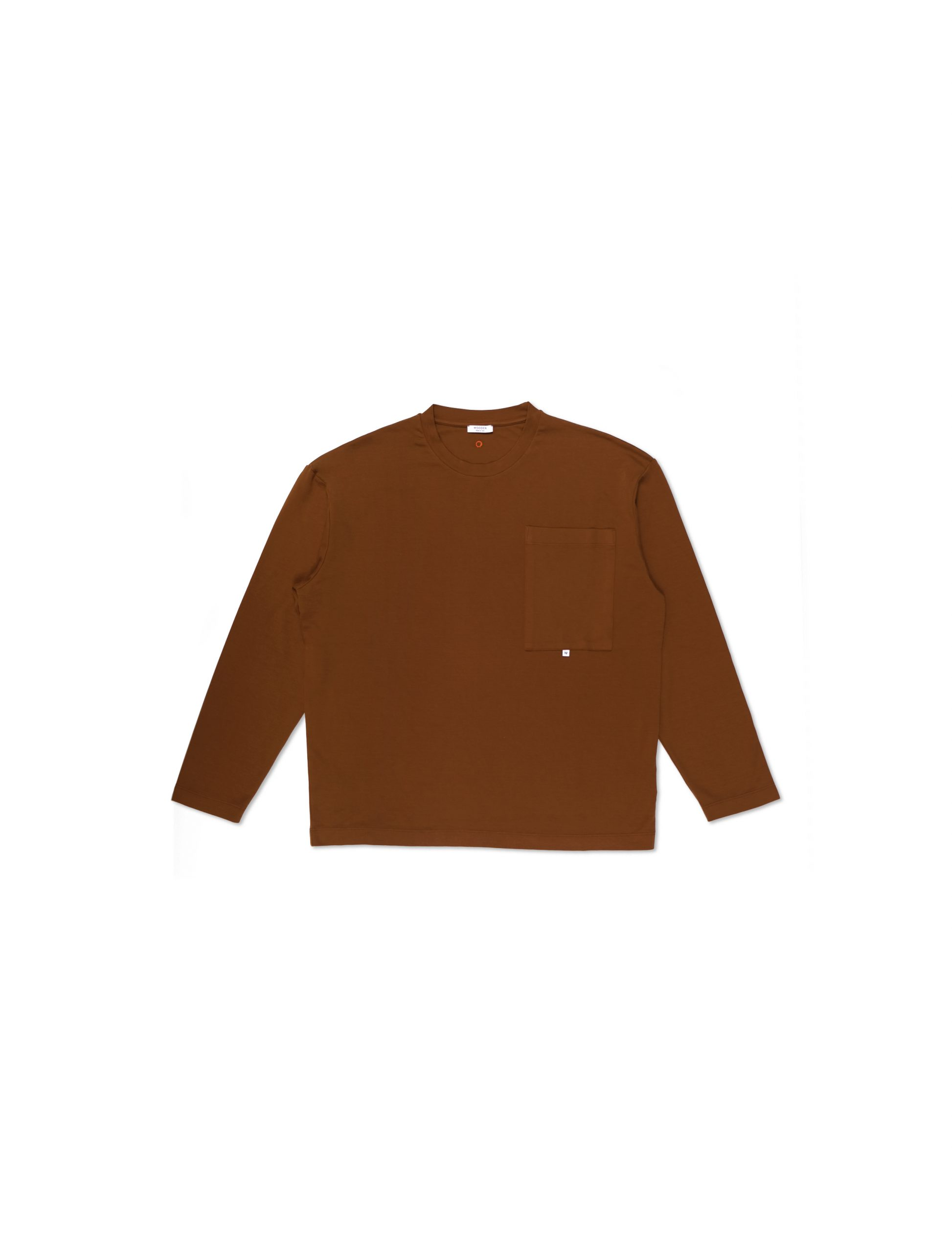 Maglia Longsleeve Cuoio con Tasca | Wooden Store