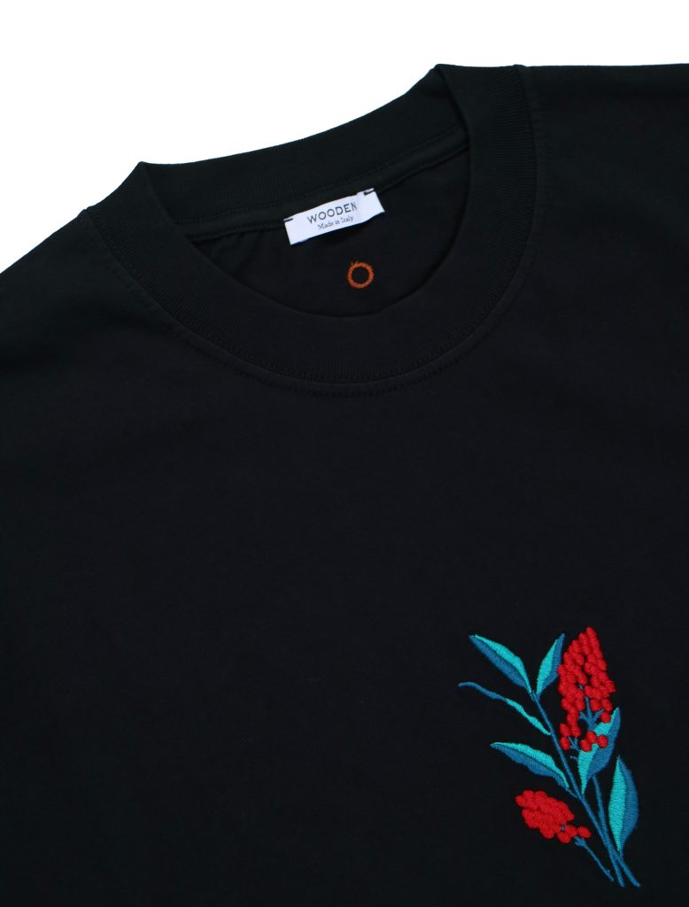 T-Shirt Berries Nero | Wooden Store