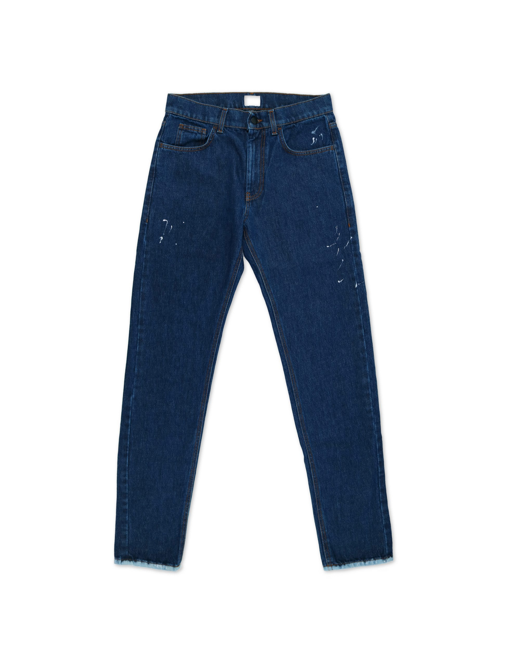 Jeans Regular White Drips | Wooden Store