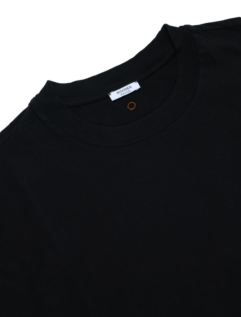 T-Shirt Over Manica 3/4 Nera | Wooden Store